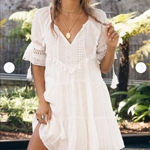 Fortunate One White Lace Babydoll Dress